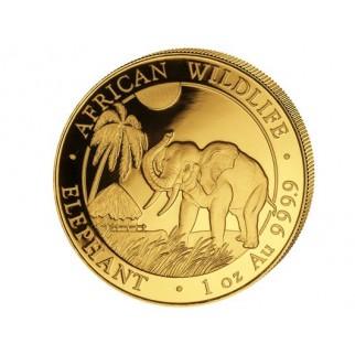 1 Unze Gold Somalia Elefant 2017