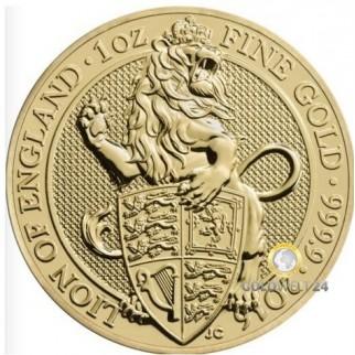 1 Unze Gold Lion of England 2016