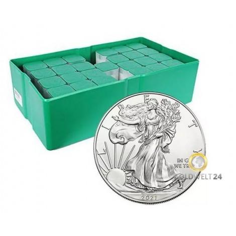 Masterbox 500*1 Unze Silber American Eagle 2021