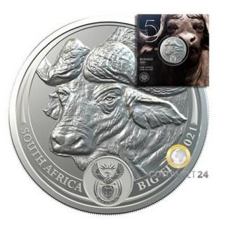 1 Unze Silber Big Five Büffel 2021