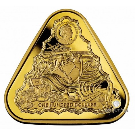 1 Unze Gold TRIANGULAR Gilt Dragon 2020