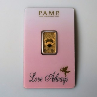 "5 g Goldbarren ""Love Always"" (Pamp)"