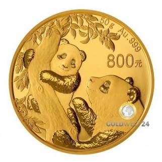 50g Gold China Panda 2021 PP (inkl. Box und Zertifikat)