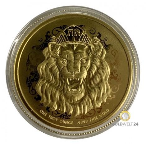 1 Unze Gold Roaring Lion 2021 PP