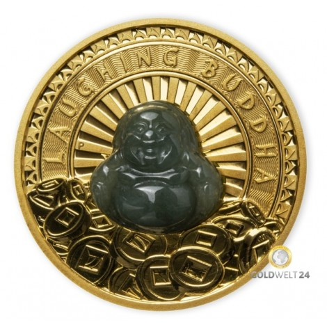 1 Unze Gold Laughing Buddha 2021 PP