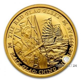 1 Unze Gold Black Flag 2020 The Royal Fortune