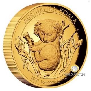 1 Unze Gold Koala High Relief 2020 PP