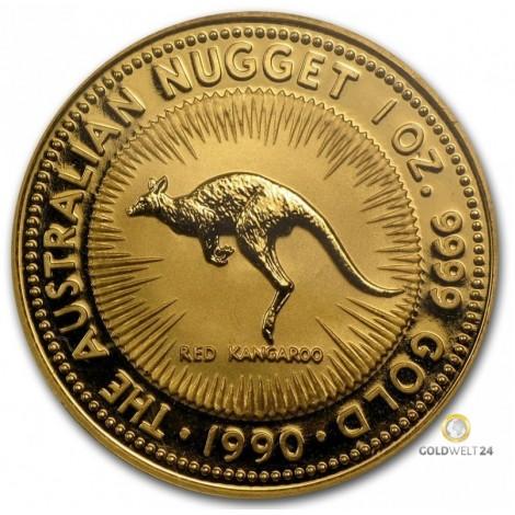 1 Unze Gold Red Kangaroo 1990