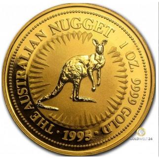 1 Unze Goldmünze Känguru 1995