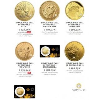 Goldset Schiffswrack Trangular (bestehend aus 4x 1Unze Gold) 2021