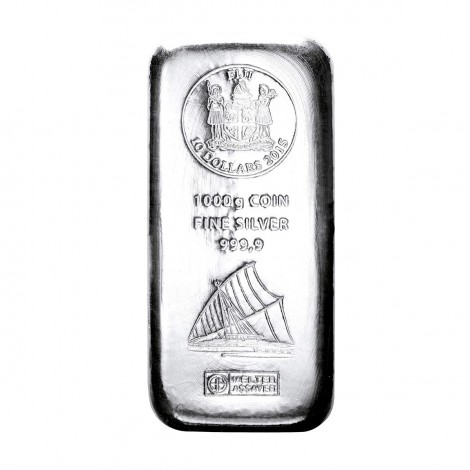 1kg Silber Fiji Münzbarren (Argor Heraeus)