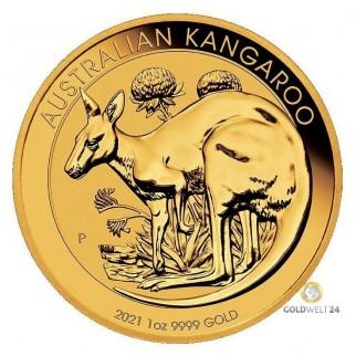 1 Unze Gold Känguru Nugget 2021