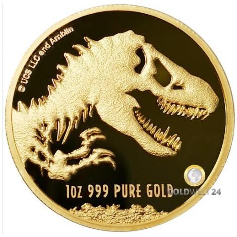 1 Unze Gold Jurassic Park 2021