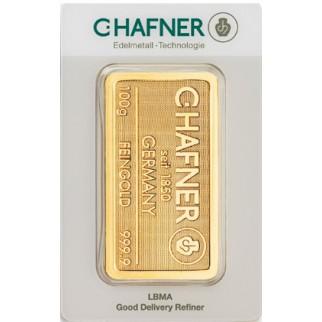 100g Goldbarren C. Hafner