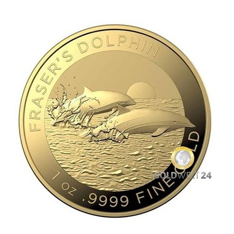 1 Unze Gold Fraser´s Dolphin 2021