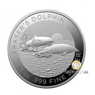 1 Unze Silber Fraser´s Dolphin (Delfin) 2021