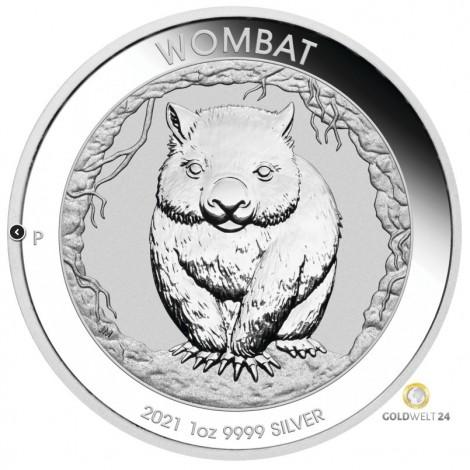 1 Unze Silber Wombat 2021