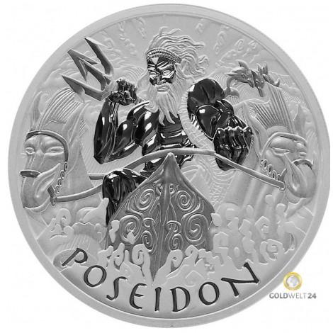5 Unzen Silber Golds of Olympus Poseidon 2021