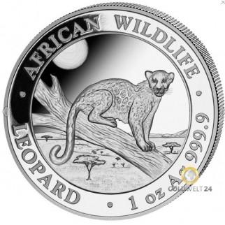1 Unze Silber Somalia Leopard 2021