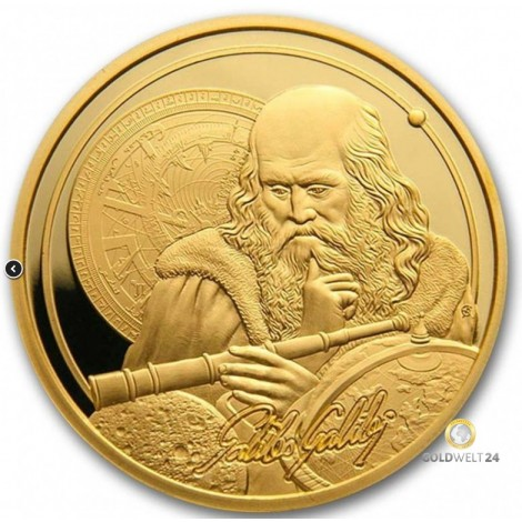 1 Unze Gold Icons of Inspriation Galileo 2021