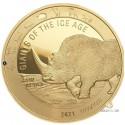 1 Unze Gold Giganten der Eiszeit - Wollnashorn 2021