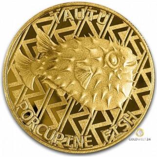 1 Unze Gold Igelfisch 2021