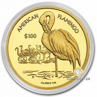 1 Unze GoldAmerican Flamingo 2020