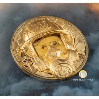 1 Unze Gold Feuerwehrmann 2021 PP