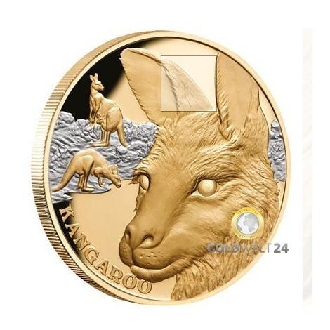 Niue 1 Unze Gold Känguru Nugget mit Platin 2021