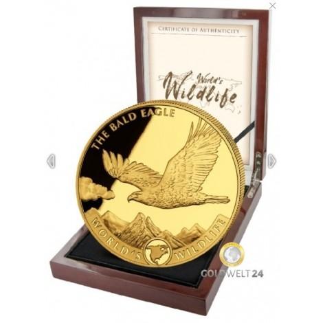 5 Unzen Gold World´s Wildlife Bald Eagle 2021 PP