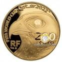200 Euro Gold Fussball-WM Quatar 2022 PP