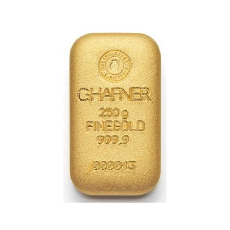 250g Goldbarren C. Hafner