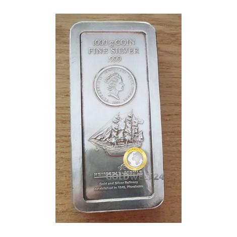 1kg Silber Cook Islands Münzbarren Resale