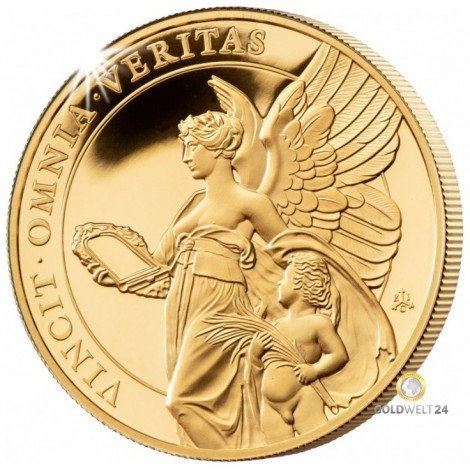 1 Unze Gold St. Helena The Queen´s Virtues PP
