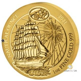 1 Unze Gold Ruanda Nautical Ounce Sedov 2021