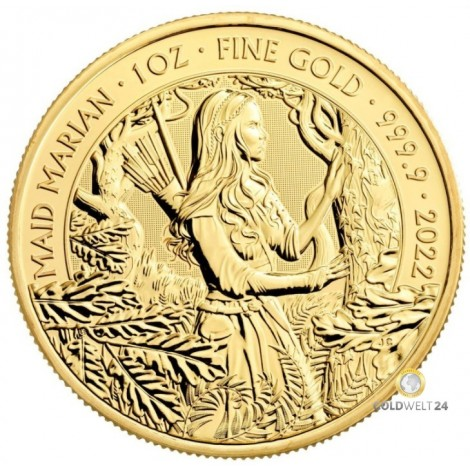 1 Unze Gold Mytths Legnds Maid Marian 2022