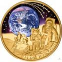 1 Unze Gold Mondlandung 2022 PP