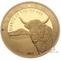 1 Unze Gold Giganten der Eiszeit - Auerochse 2021 PP