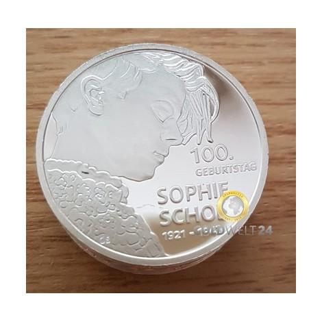 100. Geburtstag Sophe Scholl 20€