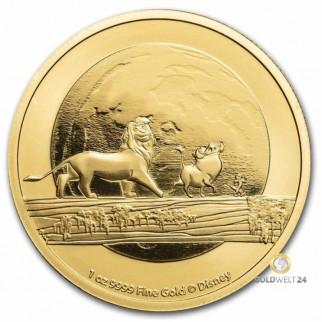 1 Unze Gold Lion King 2020