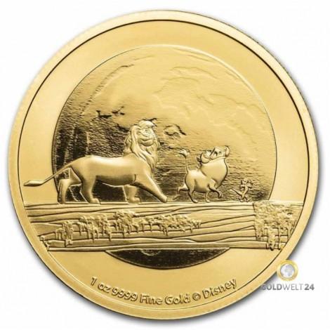 1 Unze Gold Lion King 2021