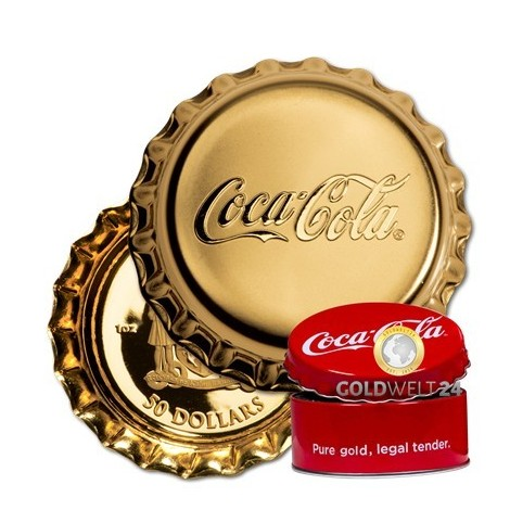 1 Unze Gold Coca Cola 2018 PP