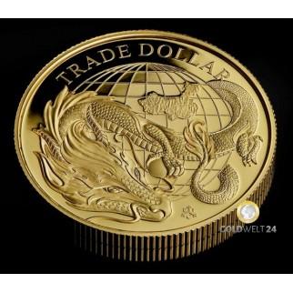 1 Unze Gold China Panda Chicago windy city 2021 PP