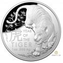 1 Unze Silber Lunar RAM Tiger 2022 PP