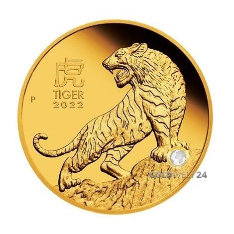 1 Unze Gold Lunar III Tiger 2022 PP