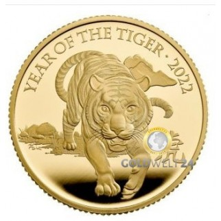 1 Unze Gold Lunar RAM Tiger 2022 PP