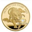 1 Unze Gold Lunar Tiger UK 2022 PP