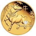 1 Unze Gold Lunar III Ochse 2021 PP