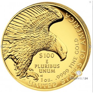 1 Unze Gold American Liberty 2017 High Relief PP