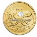 1 Unze Gold Barbados Octopus 2021